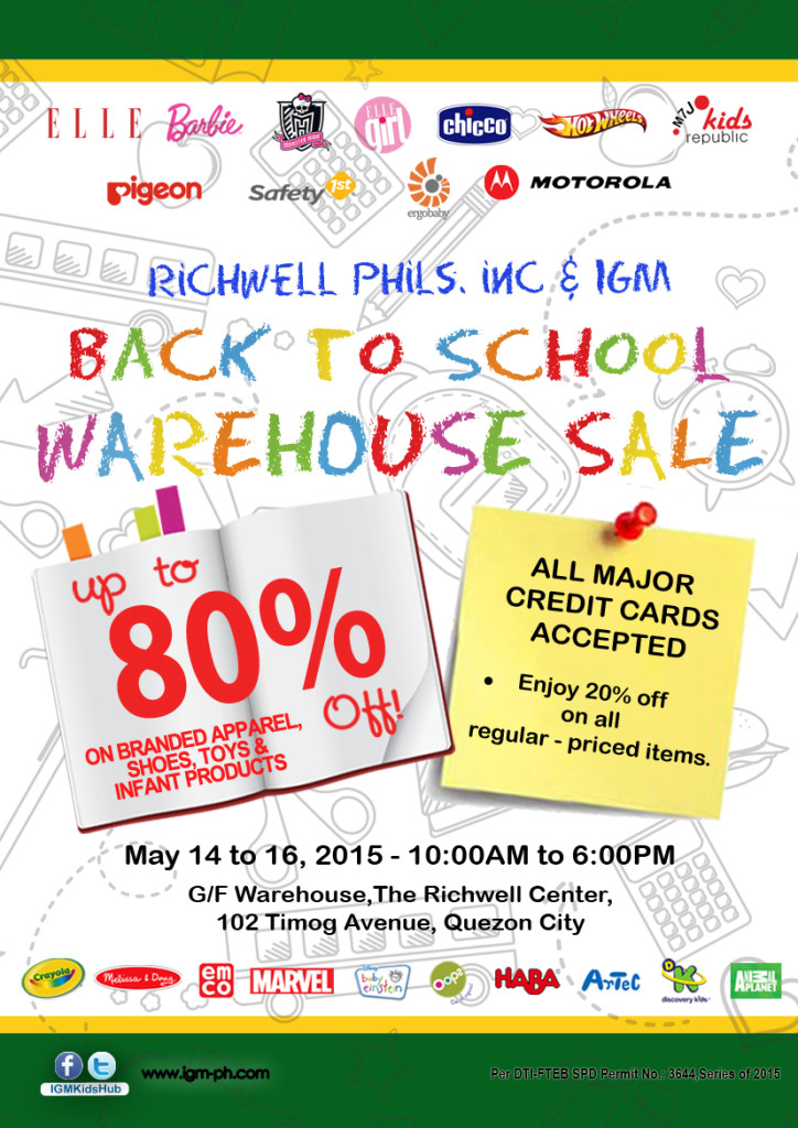 IGM Warehouse Sale