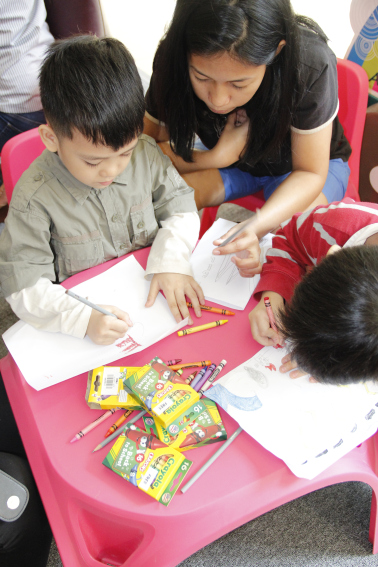 14256acd164d43 Crayola Super-Sized Coloring Book Launch at Ogalala Store Shangrila ...